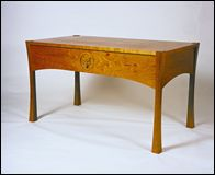 Side View of cherrywood writing desk